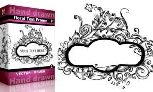 Hand Drawn Floral Text Frame Set.4 | Vol : 1