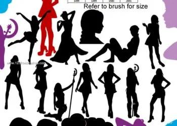 Modern Girls Silhouettes