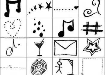 Free Photoshop Doodle Music Brushes