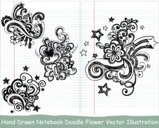 Hand Drawn Notebook Doodle Flower Vector Illustration