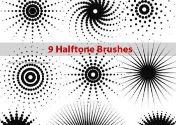 Halftone Dots Photoshop Brushes
