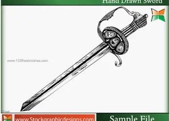 Hand Drawn Sword Brush Photoshop