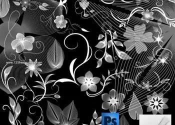 Floral Art Brushes Photoshop