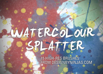 Watercolour Splatter Set