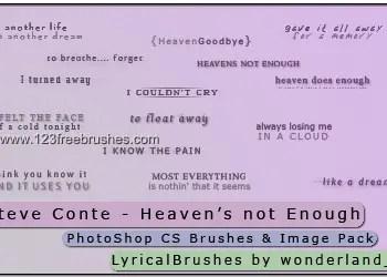 Steve Conte -Heaven Not Enough Lyrics