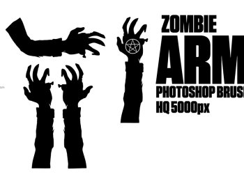 Zombie Arms Silhouettes