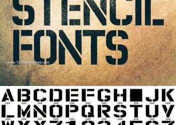 Marker Stencil Fonts