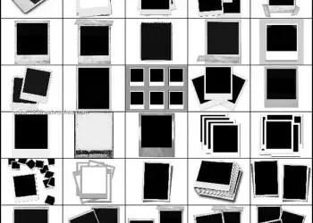 Polaroid Frames Brushes for Photoshop CS