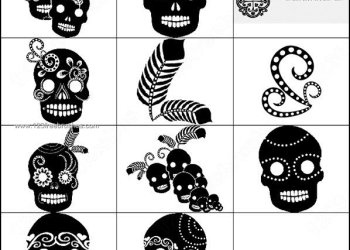 Mexican Skull Brushes Photoshop