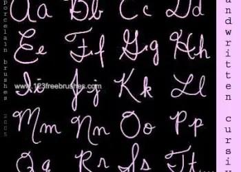 Handwriting Cursive Alphabet