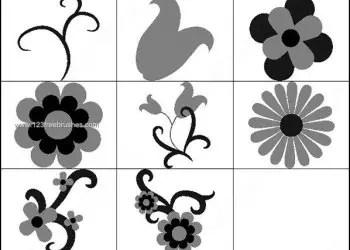 Photoshop Brushes Flower Shapes