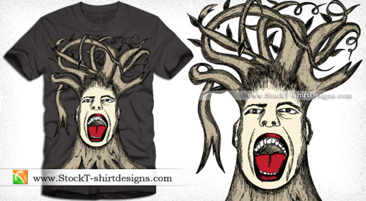 Tree Man Apparel Vector T-shirt Design