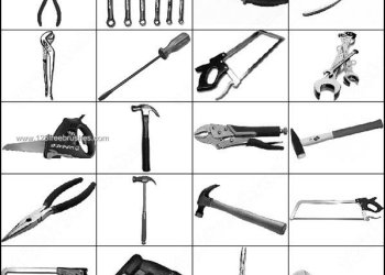 Tools Brushes Photoshop – Screwdriver – Wrench – Pliers – Cutter – Hammer