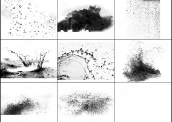 Water Splash Brush Photoshop Free Download