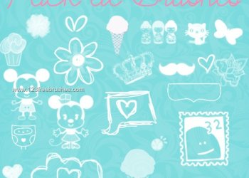 Doodle Flowers and Cute Cartoons
