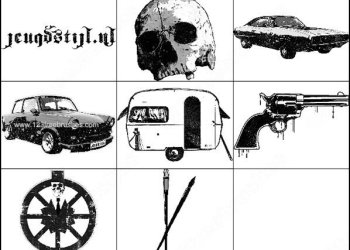 Car – Skull – Weapon Brushes Photoshop