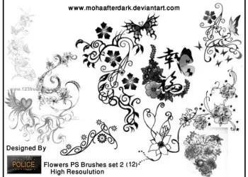 Flower Brushes Photoshop