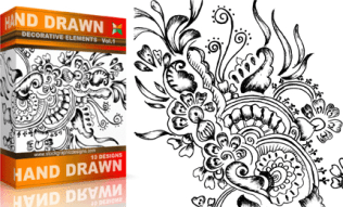 Vol.1 : Hand Drawn Sketchy Decorative Elements
