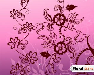 Hand Drawn Floral -Set-13