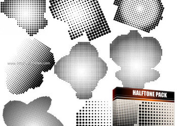Halftone Free Vector and Photoshop Brush Pack