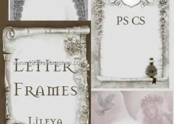 Vintage Letter Frames