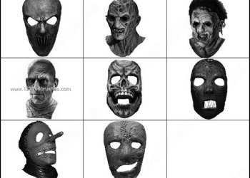 Horror Mask Photoshop Brushes