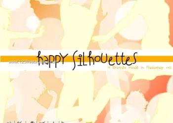 Happy Women Silhouettes