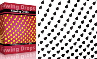 Flowing Shapes : Drops Pack