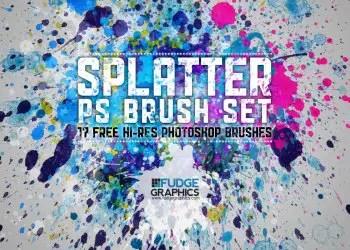 Hi-Res Paint Splatter