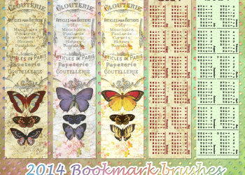 2014 Calendar Bookmarks