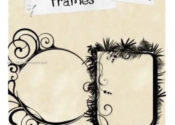 Circle Floral Frame and Vertical Frame
