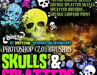 Grunge Skull Splatter