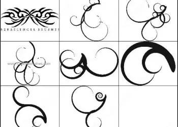 Free Swirl Brushes Photoshop