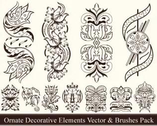 Ornate Decorative Elements Vector Pack