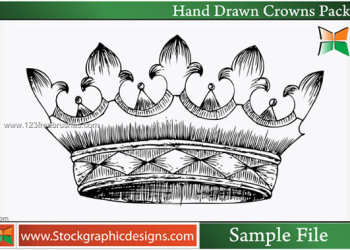 Hand Drawn Crowns Vector and Photoshop Brush