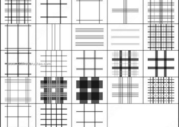 Plaid Line Brushes Photoshop Free