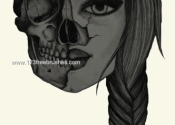 Horror Skull Girl