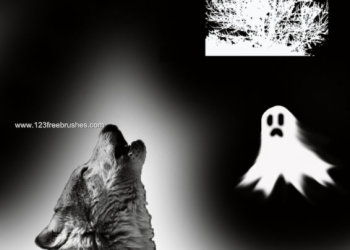 Free Halloween Photoshop Cs3 Brushes Kit