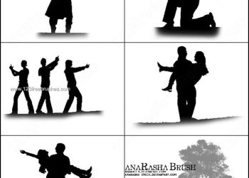 Couple Silhouette Photoshop Brushes