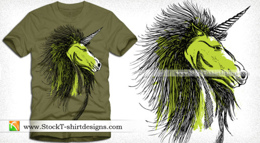 Vector Horse T-shirt Design Graphics