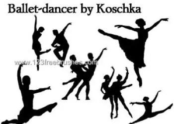 Ballet Dancer Silhouettes