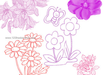 Floral Elements Brushes