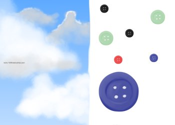 Cloud and Button