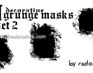 Grunge Masks Set