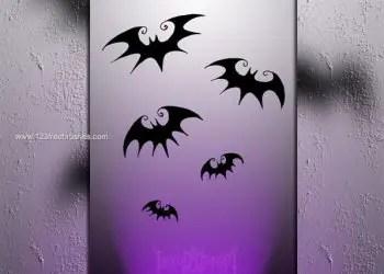 Bat Silhouette Photoshop Brushes