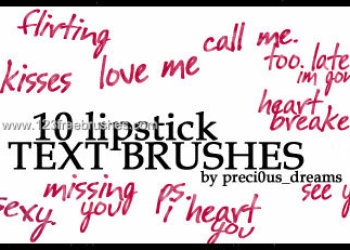 Lipstick Text