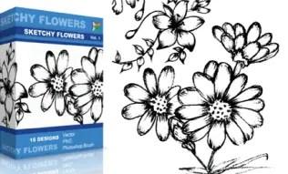 Sketchy Flowers Set.1   Vol : 1