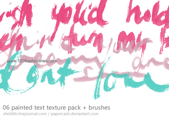 Painted Text Texture Pack