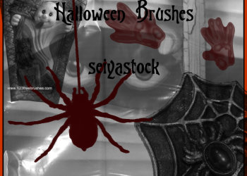Cute Halloween Photoshop Brushes Kit