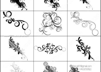 Ornamental Brushes for Photoshop Free Download